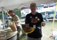 Steve with a stack at Pancakes for Peace 2012