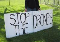 Vigil Protesting Drone Warfare (near Mauston)  April 24th, 2012