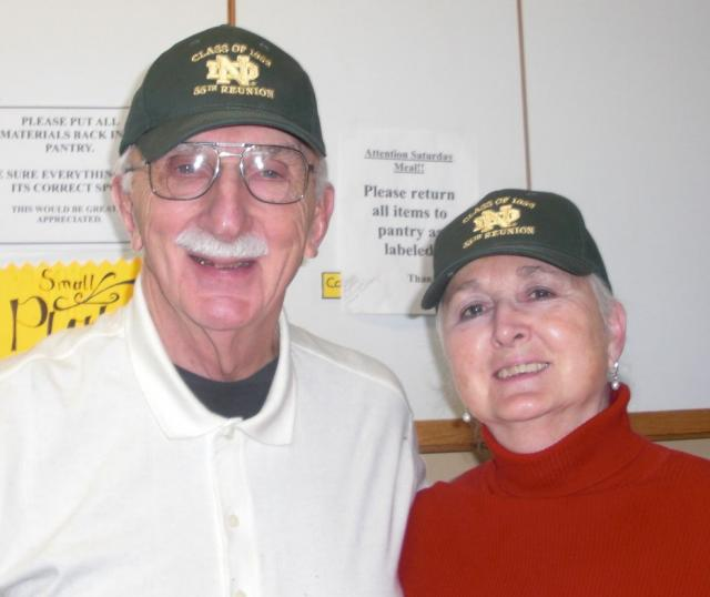 Mary Beth and John volunteer at the Pancake breakfast