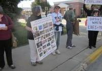 DRONE protest in Mauston - Sept 24, 2012
