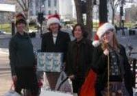 On their way to a no-nukes rally - Madison - Dec. 2009