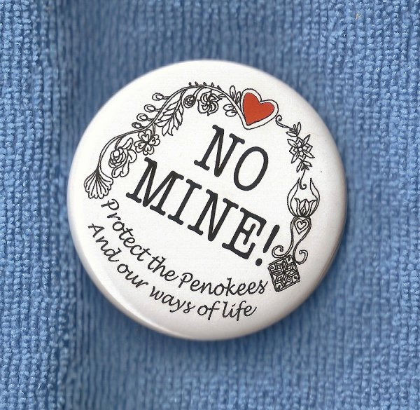 No Penokee Mine button
