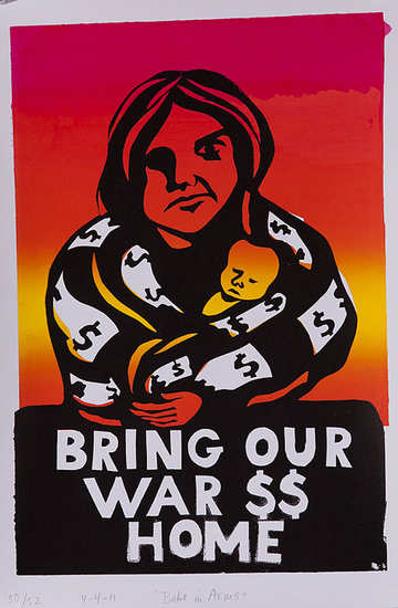 Bring our war $$ home poster