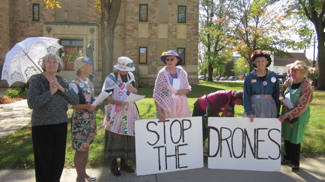 Raging Grannies take a stand against drones
