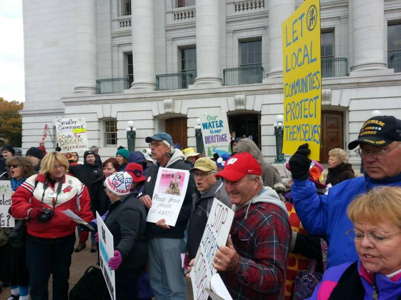 Citizens rally against frac sand mining bill