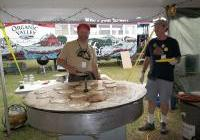 Chris and the famous rotating griddle at Pancakes for Peace 2012