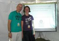 Steve and Cham present on shifting from a war economy to a green economy, at the Energy Fair 2012