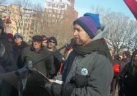 John Peck speaking at the Save Our Water - No Unsafe Mines rally at the Capitol, January 26, 2013