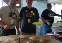 Chris, Steve and Clif - all VFP - flip the pancakes for peace