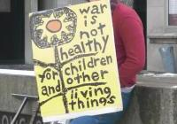 A student at the 7th YEar Anniversary of the Iraq Invasion - Madison 3-10-10